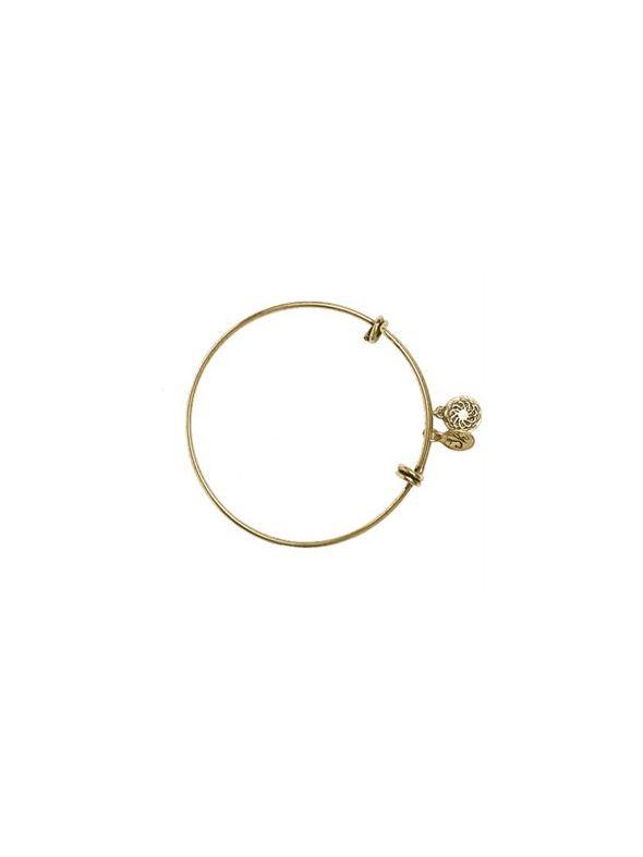 Gold Vintage Charm Bangle