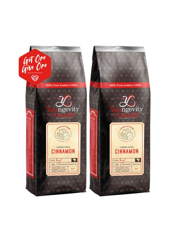 Javalution Club Cinnamon Flavored Coffee Limited Edition—Brazil Ground (12oz) [QTY: 2   Get One, Give One FREE]